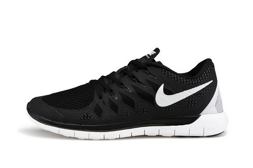Nike Free 5.0 Run 2014 Black White Running Shoe Reduced