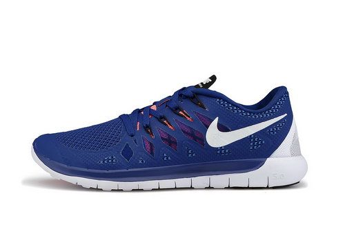Nike Free 5.0 Run 2014 Darkblue White Running Shoe Hong Kong