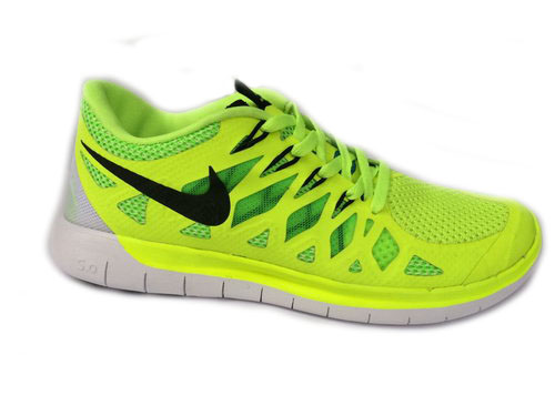 Nike Free 5.0 Run 2014 Fluorescent Green Shoe France