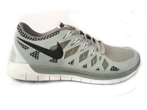 Nike Free 5.0 Run 2014 Grey White Running Shoe Norway