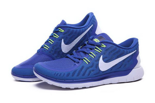 Nike Free 5.0 Running Shoes Blue White Low Price
