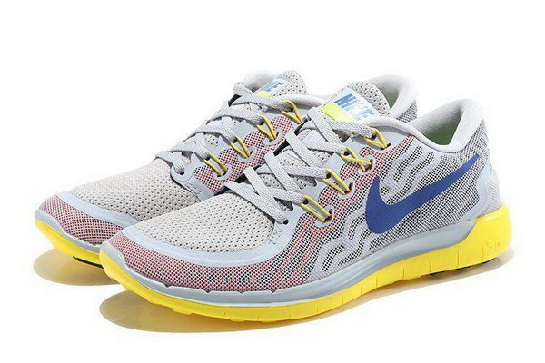 Nike Free 5.0 Running Shoes Gray Yellow Italy