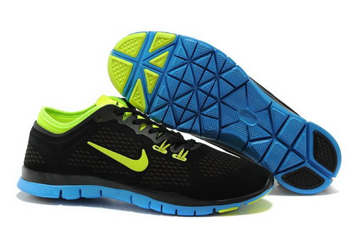 Nike Free 5.0 Tr Fit 3 Mens Shoes Black Sky Blue Green New Denmark