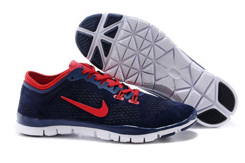 Nike Free 5.0 Tr Fit 3 Mens Shoes Dark Blue Red New Outlet Online