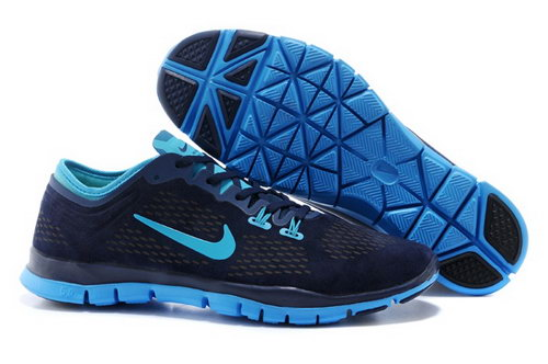 Nike Free 5.0 Tr Fit 3 Mens Shoes Dark Blue Sky Blue New China