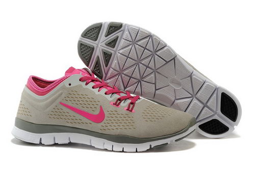 Nike Free 5.0 Tr Fit 3 Womens Shoes Light Brown Pink New Factory Outlet