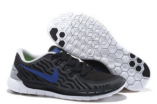 Nike Free 5.0 V2 Mens Black White Royal Blue Uk