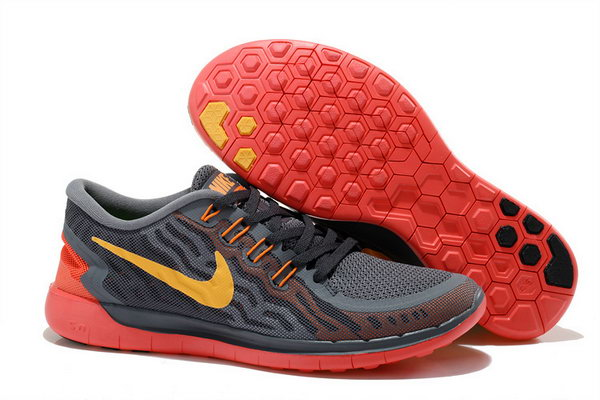 Nike Free 5.0 V2 Womens Carbon Gray Red Yellow For Sale