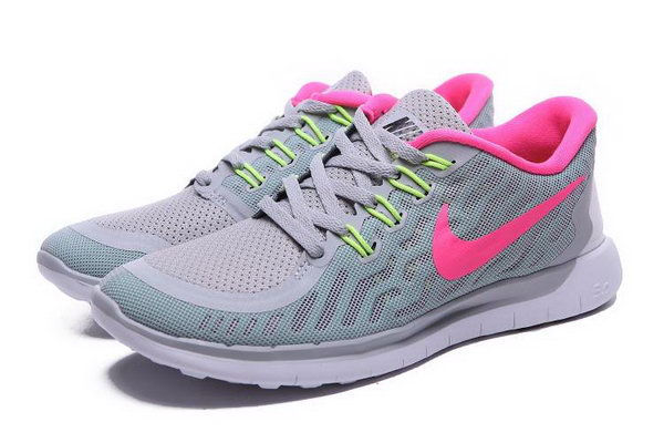 Nike Free 5.0 Women Shoes Gray Pink Low Cost