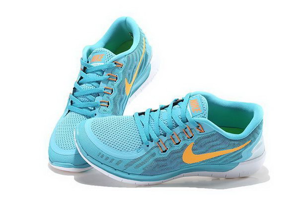 Nike Free 5.0 Women Shoes Sky Blue Yellow Best Price