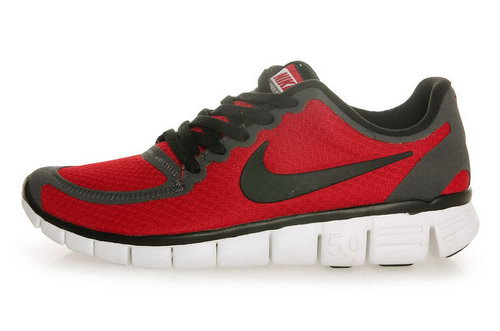 Nike Free 5.0 Womens & Mens (unisex) Red Black Low Cost
