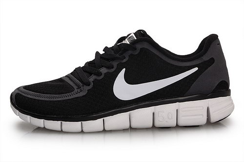 Nike Free 5.0 Womens Size Us9 9.5 10 Black White Factory Store