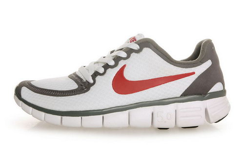 Nike Free 5.0 Womens Size Us9 9.5 10 White Red Grey Greece