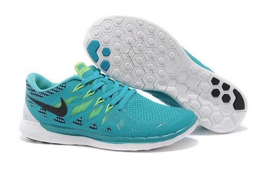 Nike Free 5.0+ Mens Shoes Blue Green Black Inexpensive