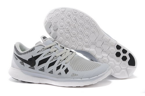 Nike Free 5.0+ Mens Shoes Light Grey Black Factory