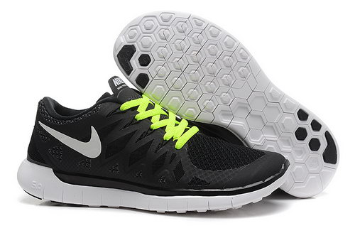 Nike Free 5.0+ Womens Shoes Black Green Low Price