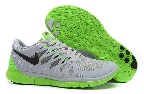 Nike Free 5.0+ Womens Shoes Grey Green Black Coupon