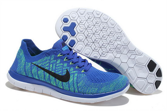 Nike Free Flyknit 4.0 V2 Blue Black 36-45 Closeout