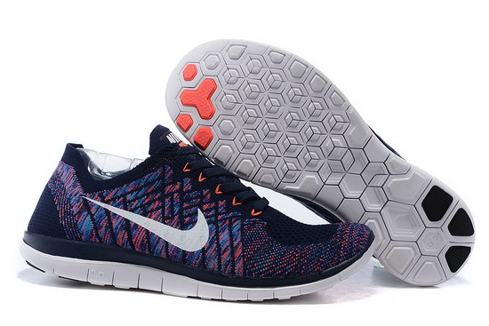 Nike Free Flyknit 4.0 V2 Dark Blue Orange 36-45 Netherlands