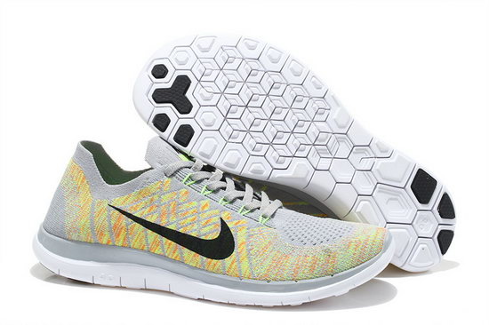 Nike Free Flyknit 4.0 V2 Light Grey Green 36-39 Denmark