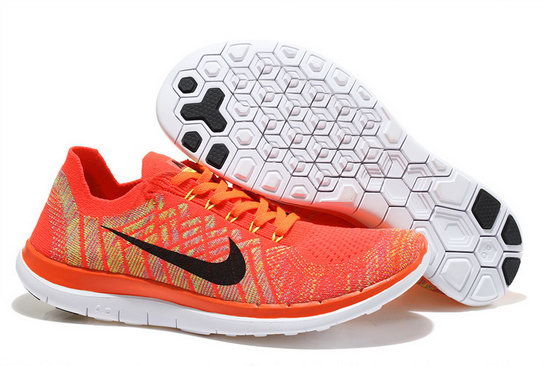 Nike Free Flyknit 4.0 V2 Orange Black 36-45 Cheap
