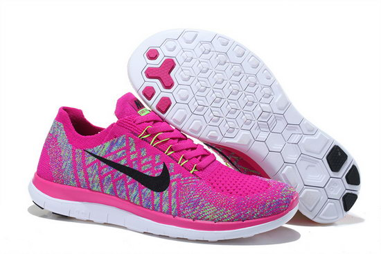 Nike Free Flyknit 4.0 V2 Pink Black 36-39 China