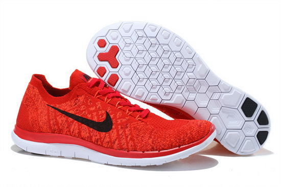 Nike Free Flyknit 4.0 V2 Red Black 36-45 Best Price