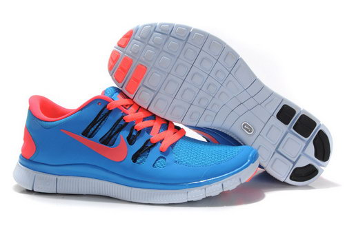 Nike Free Run +3 5.0 Mens Blue Orange Outlet Store