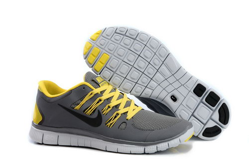 Nike Free Run +3 5.0 Mens Dark Gray Yellow Usa