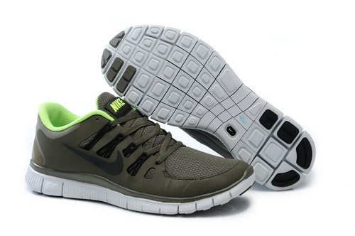 Nike Free Run +3 5.0 Mens Dark Green Fluorescent Green Promo Code