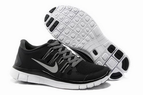 Nike Free Run +3 5.0 Womens Black Grey Low Cost