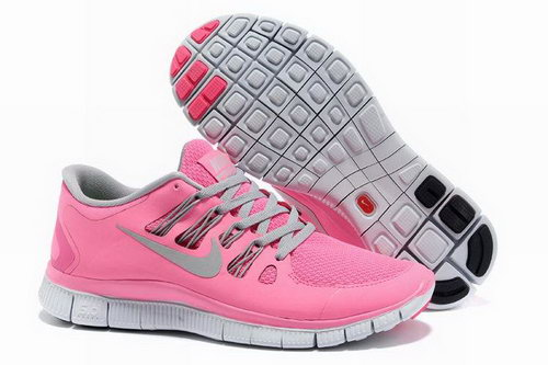 Nike Free Run +3 5.0 Womens Light Pink Light Grey Cheap