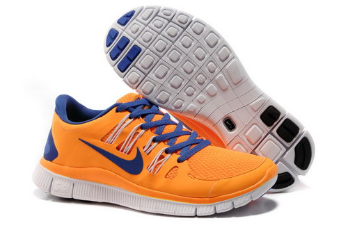 Nike Free Run +3 5.0 Womens Orange Blue Outlet