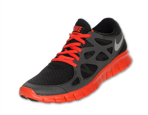 Nike Free Run 2 Mens Black Red Canada