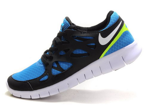 Nike Free Run 2 Mens Blue-black Coupon Code
