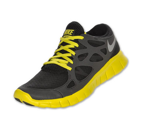 Nike Free Run 2 Mens Black Yellow Uk