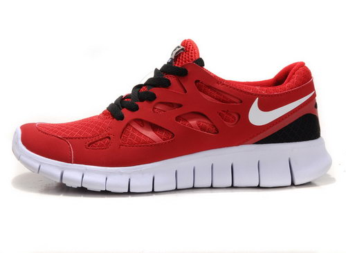 Nike Free Run 2 Womens & Mens (unisex) Red And Black Cheap