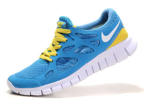 Nike Free Run 2 Womens & Mens (unisex) Sky Blue Yellow Us11 Us12 Outlet