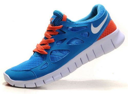 Nike Free Run 2 Womens & Mens (unisex) Sky Blue And Orange Us11 Us12 Discount Code