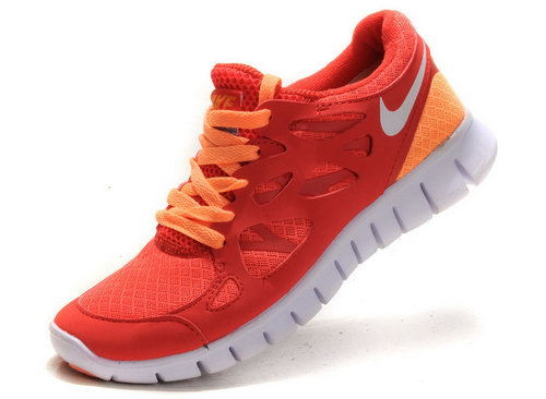 Nike Free Run 2 Womens Electric Red-orange