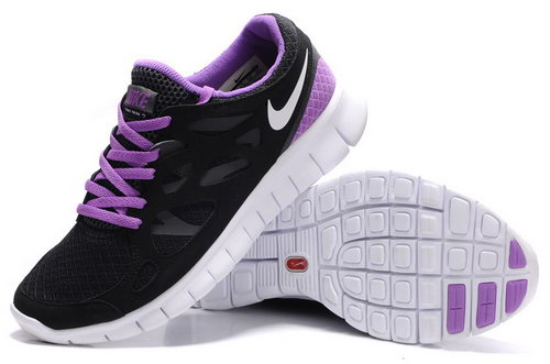 Nike Free Run 2 Womens Size Us9 9.5 10 Black And Purple On Sale