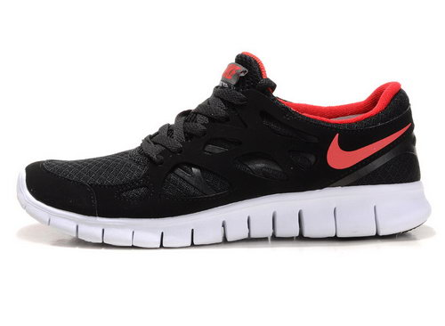 Nike Free Run 2 Womens Size Us9 9.5 10 Black And Red Greece