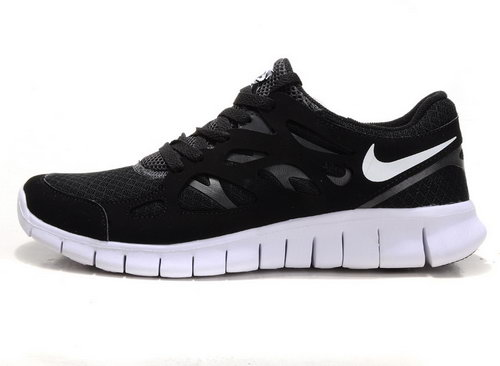 Nike Free Run 2 Womens Size Us9 9.5 10 Black And White Reduced