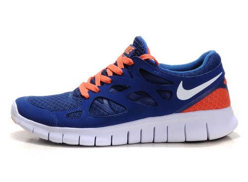 Nike Free Run 2 Womens Size Us9 9.5 10 Dark Blue Orange Hong Kong