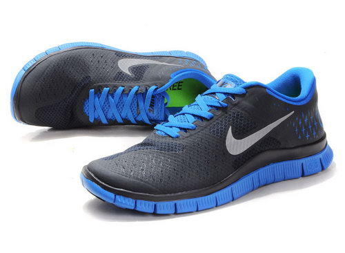 Nike Free Run 4.0 Mens Black Blue Discount