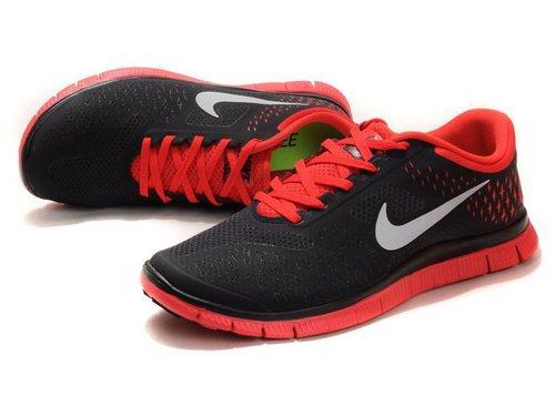 Nike Free Run 4.0 Mens Black And Red Outlet