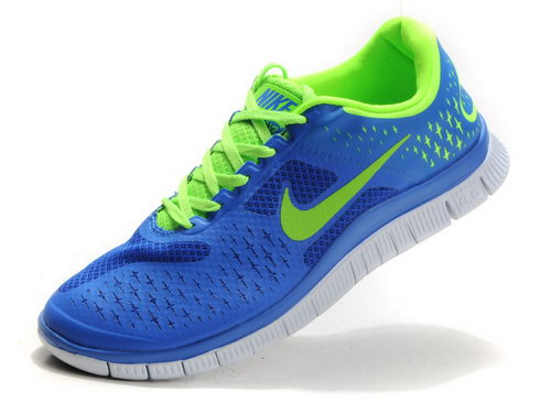 Nike Free Run 4.0 Mens Sapphire Blue Green On Sale