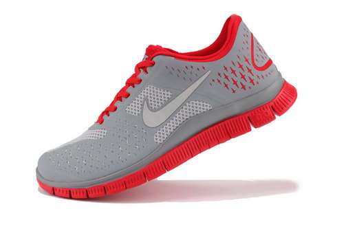 Nike Free Run 4.0 Mens The Gray Red Online