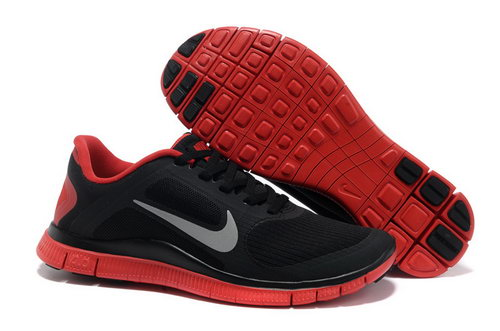 Nike Free Run 4.0 V3 Mens Black Red Poland