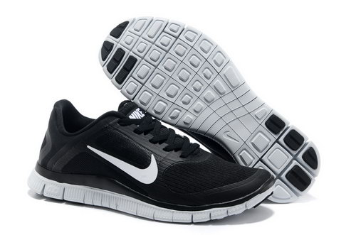 Nike Free Run 4.0 V3 Mens Black White Coupon Code